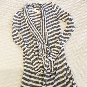 Awesome Free People Striped Duster / Sweater